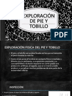 exploración de pie y tobillo