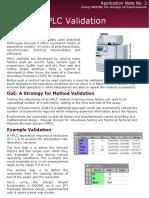 AppNote2 HPLC Validation