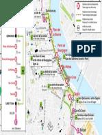 Le nouveau plan de la ligne de substitution entre gare St Jean et Quinconces