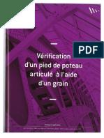 Vérification d'Un Pied de Poteau Articulé à l'Aide d'Un Grain