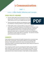 Health Communication BJMC