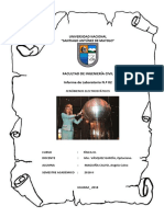 Informe de Laboratorio N.º 02  FENÓMENOS ELECTROSTÁTICOS