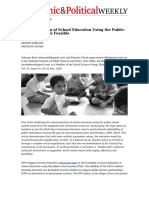 Universalisation of School Education Using the Publicschool System is Feasible