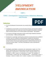 Development Communication BJMC