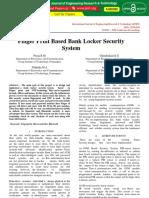 Finger Print Based Bank Locker Security System IJERTCONV6IS13068