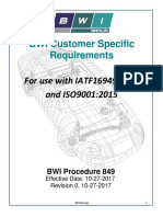 849 BWI Customer Specific Requirements for IATF16949 2016 Rev 0 27Oct2017
