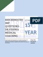 biochemistry imp questions- DR.VISHWA MEDICAL COACHING, WHASTSAPP MEDICAL HELPLINE- +919930788955