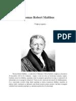 Robert Thomas Malthus - Economie Mondiala