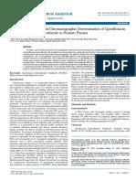 High Performance Liquid Chromatographic Determination of Ciprofloxacinhydrochloride and Ornidazole in Human Plasma 10 1012 Paco 1000103