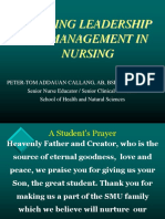 Nursing Leadership Lecture Ca2 2019