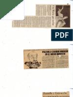 190 Piazzolla Astor Recortes de Diarios Revistas