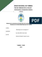 Monografia de La Historia de La Escuela de Med.