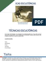 TECNICAS ESCULTORAS