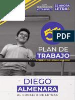 Las 5 Del 5 - Plan de Trabajo - Almenara al Consejo de Letras