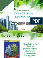 Encouraging Creativity & Innovation