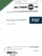 ISO1940 International Standard
