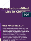 A Freedom-Filled Life in Christ