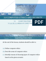 3.1 Areas of Computer Ethics