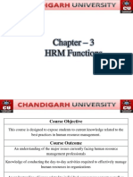 3. HRM Functions