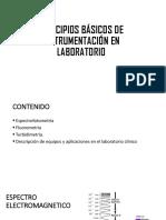 PRINCIPIOS BÁSICOS DE INSTRUMENTACIÓN EN LABORATORIO