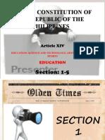 Article 14 of Philippine Constitution