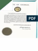 Georgia State 14th Amendment Seal