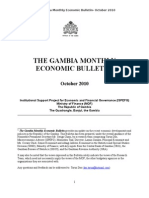 Gambia Monthly Economic Bulletin October 2010