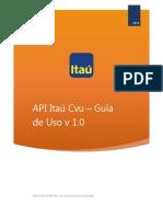 Guia de Uso - API Itau Cvu v1.0