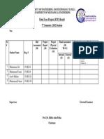 Fyp Grading Sheet