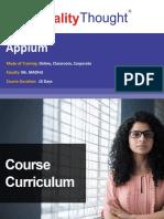 QT Appium Course Content