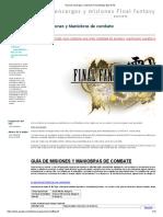 Guia de Encargos y Misiones Final Fantasy Type 0 HD