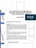 Presentacion Ptdi Machareti 2018