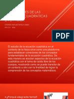 Aplicaciones de Las Funciones Cuadraticas en La Fisica