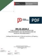 Publicacion de Resultados IM CE 2018-2-2