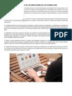 IMPORTANCIA DE LAS DIRECCIONES DE LAS PAGINAS WEB.docx