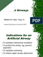 Artificial Airways- Aug14