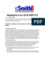 Highlights from 2018 FSIP 077