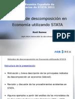 Métodos de descomposición en Economía utilizando STATA
