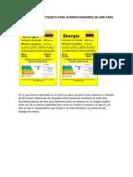 Informe Comparación de Etiquetas (No Es Calificable)