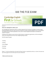 8 Tips to Pass the Fce Exam