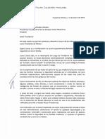 Carta de Felipe Calderón a AMLO