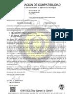 Certificado Organico PANTERA 720