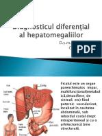 Hepatomegaliile diagnostic diferențial