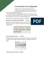Sistemas de Numeración en La Antigüedad