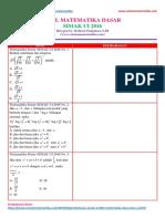 Soal Matematika Dasar SIMAK UI 2016