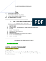 Course Ex for t1-Ch II Ced-2205 Engg Hydrology