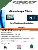 Aula 1 Controle Microbiologico e Apresentação Jhonatta Alexandre