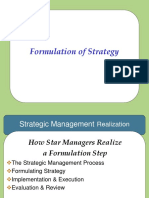 Formulation of Strategy
