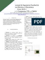 INFORME PREVIO COMPUERTAS TTL Y CMOS