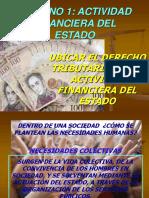 UBICAR EL DERECHO TRIBUTARIO  EN LA ACTIVIDAD FINANCIERA DEL ESTADO